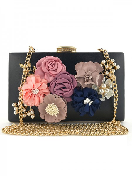 Women's Casual PU Evening Bags With 3D Floral