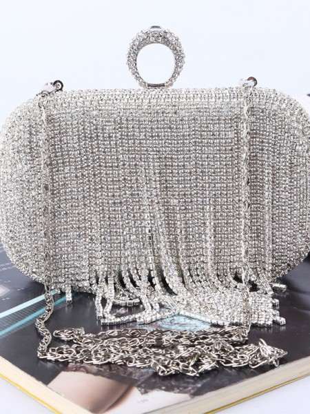 Luxurious Rhinestone Wedding Evening Party Crystal Handbags