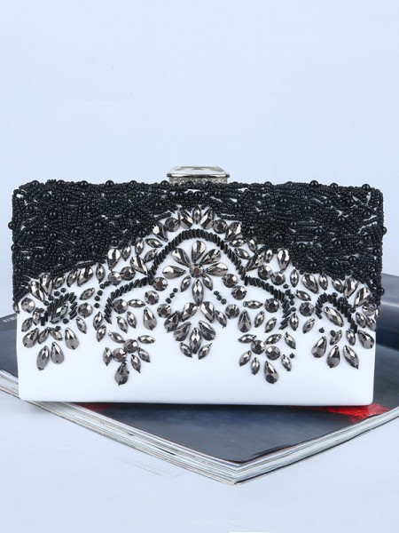 Graceful Rhinestone Evening/Party Womens Handbags With Beading