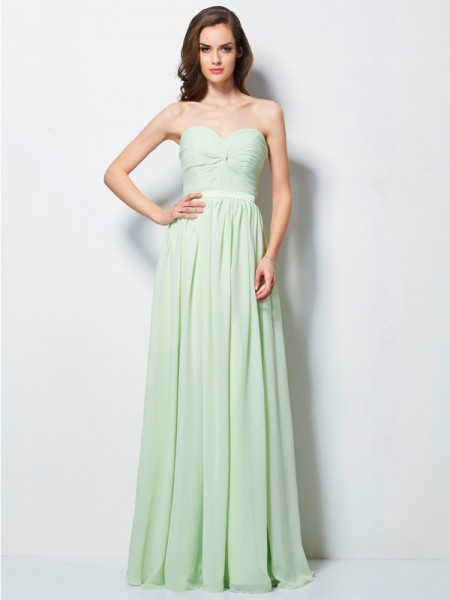 A-Line/Princess Sweetheart Pleats Dress with Chiffon