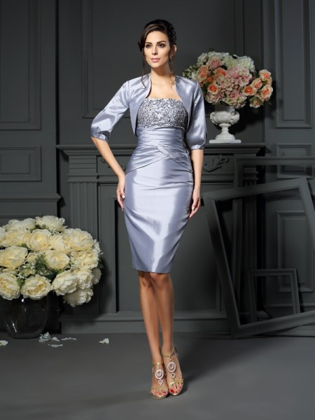 Sheath/Column Sweetheart Short Taffeta Mother of the Bride Dress