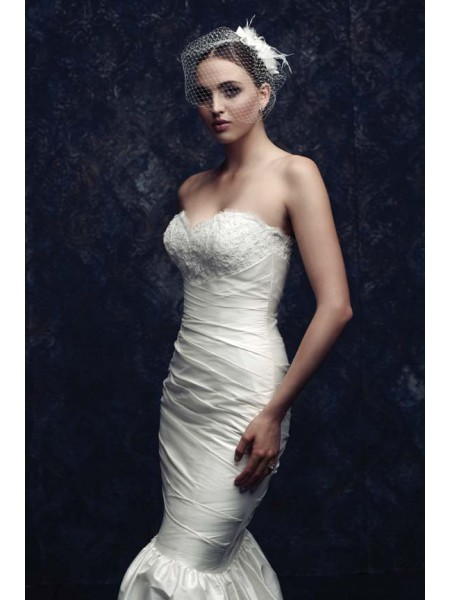 Net Feather Wedding Veils ZDRESS2871