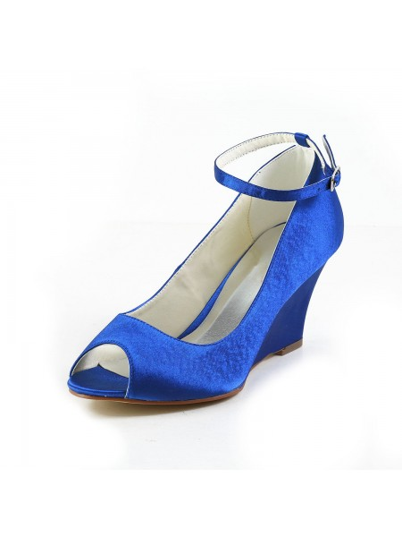 Satin Wedge Heel Wedges Shoes S5121758